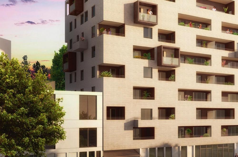 Résidence à Toulouse façade coté rue