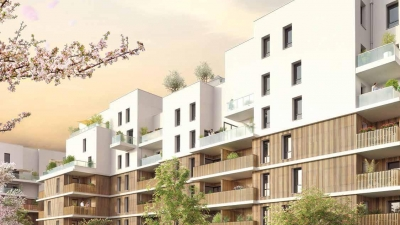 Résidence moderne à Ambilly façade jardin