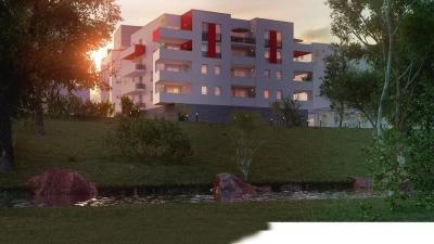 Résidence à Perpignan façade côté canal