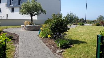 Accès privatif jardin intérieur