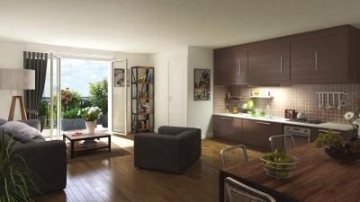 exemple de salon avec ouverture sur balcon